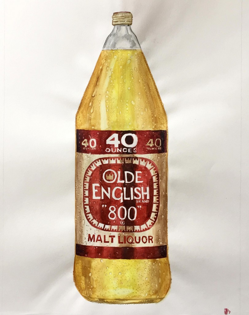 Bottle of old english
